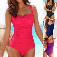 One Piece Plus Size Swimsuit Women Red Slimming Swimwear Sexy Classic Swimming Suit Momokini Summer Beach Bathing Women's