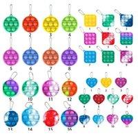 Silicone Toys Partys Llavero Llavero Anti-Presión Burbuja Tablero Descompresión Toy Fidget Infantil Inteligencia Desarrollo Colgante