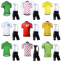 Tour durch Frankreich Team Radfahren Kurzarm Jersey BIB Shorts Sets Sommer Kurzarm Atmungsaktive Kleidung MAILLT ROPA CICLISMO