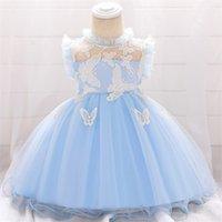 Bambino Principessa Dress For Baby Christenzione 1 ° anno Abito di compleanno neonato Neonati Party and Wedding Dress Vestiti infantili Q1223 169 Z2