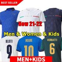 لاعب نسخة 2020 202021 2022 إيطاليا لكرة القدم الفانيلة insigne رينيسانس 20 21 22 كرة القدم قميص مجموعة تشيليني bonucci bernardeschi belotti barella الرجال الاطفال عدة