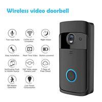 Dossier vidéo sans fil Wi-Fi Bell Pir Détection 2-Way Talk Video-Eye pour les appartements Porte Anneau Sécurité Caméras Mini