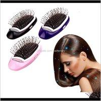 Pincéis cuidados com cuidado ferramentas Produtos de cabelo entrega 2021 Vender portátil antiestático ion negativo ion pente de aço inoxidável gclde