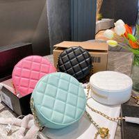 2021 Luxurys Designer Crossbody Tasche mit kleinen Diamantgitter Geldbörse Mode Handtaschen Fass-förmige Taschen Classic Marke Tote Match Boxen Größe 17cm xbpfc02