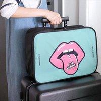 Ruputin Travel Cartoon Sac de cosmétique de grande capacité Cas de maquillage Portable Salle de bain Sacs de stockage Sacs Sacs étanche Maquillage