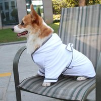 Dog Pajamas Pet Cat Bathrobe Soft Quickly Absorbing Water Fi...