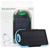 5000 mAh Güneş Enerjisi Bankası Su Geçirmez Darbeye Dayanıklı Toz Geçirmez Taşınabilir Güneş Powerbank Tüm Akıllı Telefon için Harici Pil