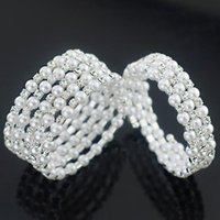 Beaded, Strands Exquisite Beautiful Imitation Pearl Chic Elegant Crystal Bracelets & CharmBangles Jewelry Stylish Gift For Women DS323