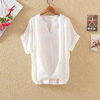 Women's Blouses & Shirts 2021 Women Sexy V Neck Short Sleeve Solid Womens Tops And Casual Yellow Shirt Female Clothes Loose Tunic