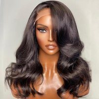 Lace Wigs Short Body Wave Frontal Wig 13x4 Front Human Hair Remy 12-20 Inches Pre-plucked Glueless Wavy And Wet