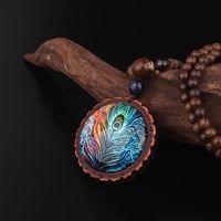 Pendentif Colliers Népal Bijoux Népal Bijoux Handmade Pull Long Pull Vintage Collier Vintage, Design Mode Paon Collier ethnique