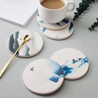 Diatomitabsorptionstisch-Untersetzer Rutschfeste Tassenhalter Isolierkissen Seifenmatte Kaffeetasse Kitchen Matte EWF7041