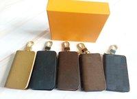 Designer de luxo Keychain de Alta Qualidade Clássico Quadrado Parcela Zero Carteira com Caixa De Moda Cintura Pendurado 2021