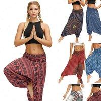 Богемия плюс размер мода повседневные женские брюки 15 цветов цифровые печати свободно оптом эластичные блумужистые спортивные