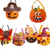 2021 Bolsos de bricolaje Cráneo Calabaza Productos de Halloween Suministros Nuevo Halloween DIY Papel Bolsa de regalo Dibujos animados Creative Candy Bags Children Hecho a mano