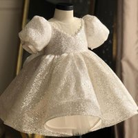 Lace Ball Wedding Dresses Baby for Girls Baptism Clothing Infant 1 Year Birthday Party Toddler Princess Gown Girl Frocks