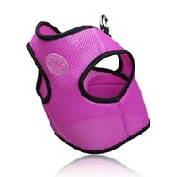 Pet Traction Logo Dog Chest Strap Mesh Clothes Fashion Back Leash Breathable Kitten Harnesses Puppy Collars & Leashes