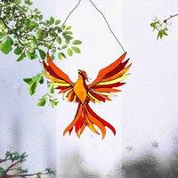 장식 물체 인형 레드 불타는 Phenix 창 장식 노르딕 거실 장식 걸이 키즈 홈 펜던트 정원 벽 접근 자