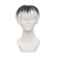 TOKYO GHOUL RE Kaneki Ken Sasaki Haise Siyah Beyaz Karışım Kısa Isıya Dayanıklı Fiber Saç Pelucas Anime Cosplay Kostüm Peruk + Peruk