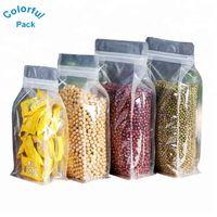 Matt color Resealable Zip Mylar Storage Aluminum Foil Bags plastic Smell Proof bag in stock