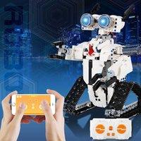 467pcs high-tech RC Tracked Robot APP Remote Control Building Blocks City Creative Programming Light Bricks Children Toys Gifts H0917