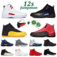 Баскетбольные туфли 12s jumpman 12 Мужчины Женщины Dark Concord TPY Игровой Университет Золота Индиго Playoff Taki Flays Mens Спортивные Тренеры Размер 7-13