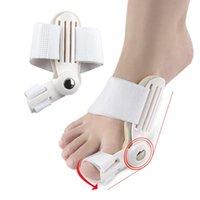 3pcs Big Foot Bone Corretor Splitter Toe Support Day / Night Splint Corrocorrentes Relevo Associar Valgus Straightener Segurança tornozelo