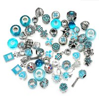 Charms Findings & Components Jewelry50Pcs Lot Crystal Big Hole Loose Spacer Craft European Rhinestone Bead Pendant For Charm Bracelet Neckla