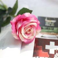 Fleur artificielle Rose Silk Fleurs Real Touch Pétonie Martin de mariée Décorations de mariage Décor de Noël 13 couleurs WY1431-WLL