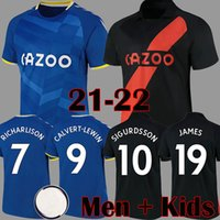 21 22 أسود حواء لكرة القدم الفانيلة ريتشارلي كين سيغوردسون جيمس لكرة القدم القمصان 2021 2022 كالتفعة لوين الرجال الاطفال مجموعات الزي الرسمي