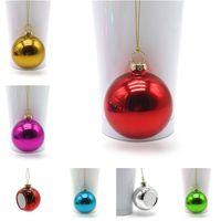 Mini Sublimation Blanks Weihnachtskugel 4 cm Dekoration Transferdruck Wärmepresse DIY Geschenke Handwerk Druck M Dream B Zeg
