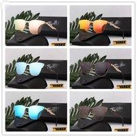 Hochwertige Ray-Weinlese-Pilot-Marke-Sonnenbrillen-Band polarisierte UV400-Bans Männer Frauen Ben Sonnenbrillen mit Kasten und Fall 3576N