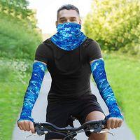 Maske Soğutma Kol Kollu Açık UV Koruma Boyun Tayt Bisiklet Koşu Balıkçılık Spor Buz Kumaş Güneş Kremi Kol Kol