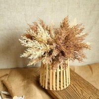 Высококачественные пластиковые искусственные цветы домашней комнаты осень осенний свадебный букет оформление аксессуары кофе поддельный цветок