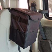 Car Organizer Multiifunctional Rubbish Bin Collapsible Foldable Black Litter Waste Trash Bag For Interior Basket