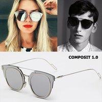 Moda Composit 1,0 Liga de metal Óculos de sol polarizados Fresco Design de marca de gato estilo olho óculos de sol oculos de sol gafas