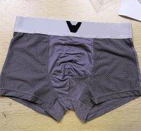 كلاسيكي رجل مصمم سراويل داخلية الرجال سراويل السروال أزياء الذكور الذكور الملابس الداخلية كبيرة قصيرة تنفس الصلبة السراويل المرنة