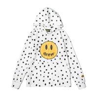 Mens Designer Hoodies High Sreet Drew House Polka Dot Smiley Print Justin Bieber Long Sleeve Hoodie Sweatshirt Loose