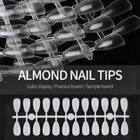 120pcs set Water Drop Clear Natural Nail Color False Tips for Display Chart Full Cover Fake Tip Nails Showing Shelf Stand Book Card 1349