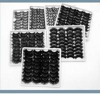 18 pares faux 3d mink cílios falsos pestana natural grossa crueldade livre olho chicote extensio maquiagem