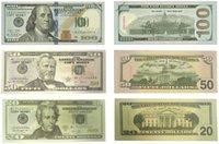 Sahte Para Kopyalama 20,50,100 Dolar Prop Para Gerçekçi Çift Taraflı Yığın Tam Baskı Sahte ABD Doları Banknot Kağıt Yenilik Oyuncaklar