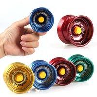 Fidget Toy Spinner Metal Yoyo Сплав Алюминиевый дизайн Высокоскоростной Профессиональный Шариковый Подшипник Струна Трюк Детские Волшебные жонглирование