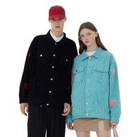Women's Jackets Y2K Corduroy Jacket Couple Work Wear 2021 Autumn Winter Turn Down Collar Single Breasted Harajuku Coat Women Streetwear