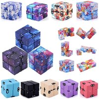 DHL Infinity Christmas Magic Cube Creative Sky Zappeln Antistress Spielzeug Büro Flip Cubic Puzzle Mini Blöcke Dekompression Spielzeug
