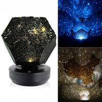 Novelty Items Star Projector Lamp Children Bedroom LED Night Light Galaxy Moon Table Starry Rotating Decor Baby M5M0