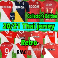 Jerseys de futebol do colecionador de Monaco 1977/1982 94 95 96 97 Tuybens Retro Jersey 90 91 92 1999-2000 Home Dalger vintage como Ben Yedder Jovetic Golovin FLOCage Futebol