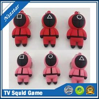 TV Squid Game Keychain Popular Toy Anime Surrounding Wooden People Pontang PVC Keychains Friends Halloween Party Favor Gifts In stock Fast Delivery DHL free