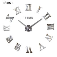 Wall Clocks Big Clock Large Sticker 3D DIY On The For Living Room Home Decoration Accessories Modern Design