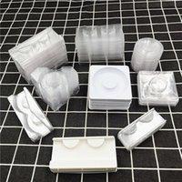 False Eyelashes Mink Lashes Holder Clear Lash Trays Plastic Eyelash Tray For Packaging Box Square Case Bulk Vendors