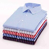 Aoliwen бренд мужские летние с коротким рукавом полоса рубашка высокого уличного стиля мода фланелевая рубашка стройная подходит высокое качество 2103231